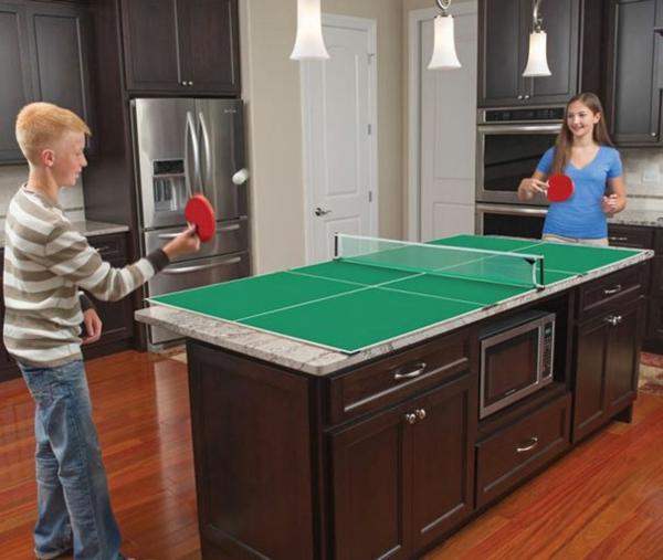 kreative wohnideen küche küchenideen kücheninsel tischtennis