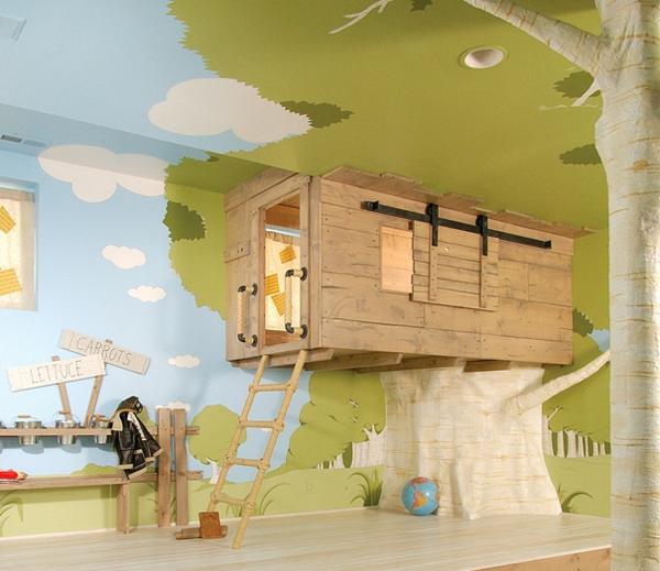 kreative wohnideen kinderzimmer einrichten wandgestaptumg tapeten