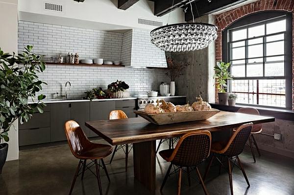 küchenrückwand kronleuchter Kücheneinrichtung und Küchenmöbel esstisch