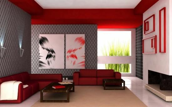 kunst kunstwerke wandgemälde wandfarbe tapeten modernes wohnzimmer gestalten