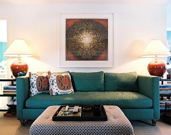 Kunstvoll Attraktiv Wohnzimmer Einrichtung Sofas Tischlampen