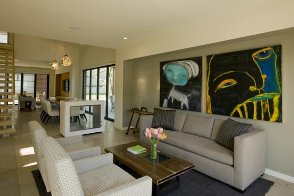 ▷ 1001+ wandfarben ideen für eine dramatische wohnzimmer-gestaltung - Wohnzimmer Grau Magenta