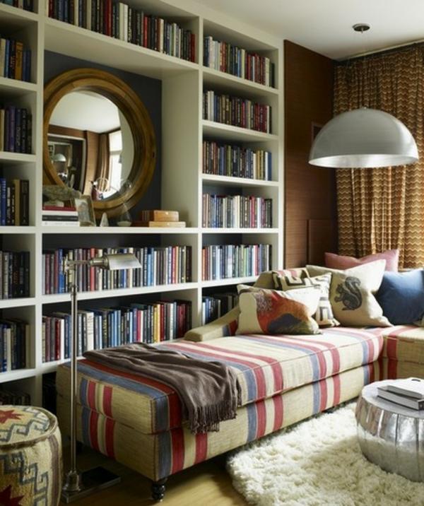lesen hausbibliothek bücher streifen Polstermöbel und Wohnlandschaft