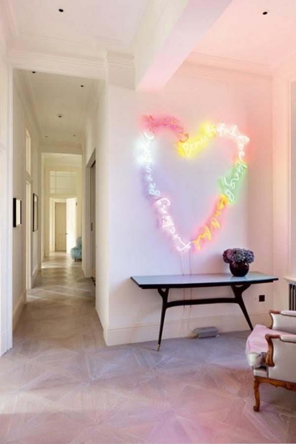wandgestaltung im flur- 50 einrichtungstipps und wandfarben ideen - Wandfarbe Ideen