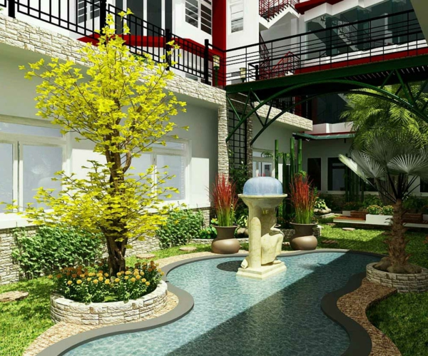 Luxus garten  50 moderne Gartengestaltung Ideen