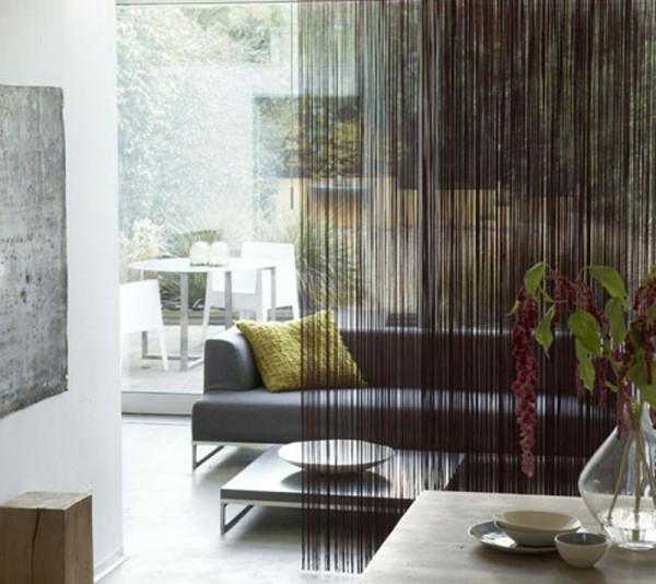 luxus perlenvorhang raumteiler sofa wohnzimmer - Raumteiler Ideen
