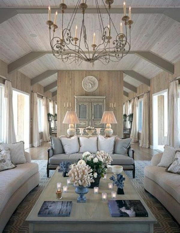 luxus wohnzimmer gestaltungsideen 3 sofas dekokissen