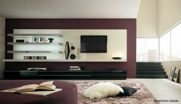 Luxus Wohnzimmer Mattes Lila Tv Schrank Lackiert Tisch