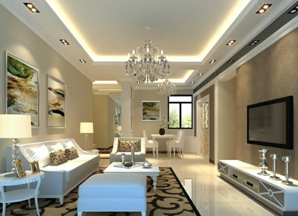 Luxus Wohnzimmer Weiss ~ Kreative Bilder Für Zu Hause Design