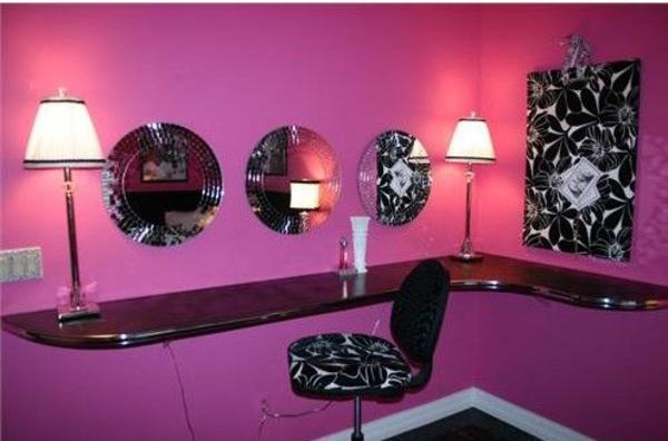 mädchenzimmer gestalten rosa wandfarbe tolle dekoideen