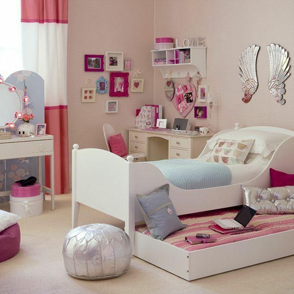 Mädchenzimmer Gestaltungsideen Wanddeko Etagenbett