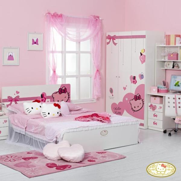 """Mädchenzimmer """"Hello Kitty"""" gestalten - träumen und wohnen"""