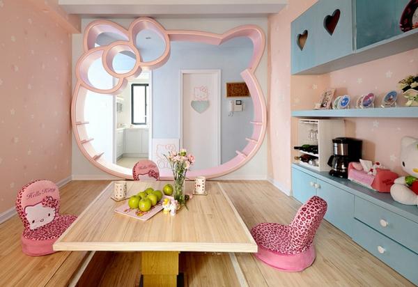 m dchenzimmer hello kitty gestalten tr umen und wohnen. Black Bedroom Furniture Sets. Home Design Ideas
