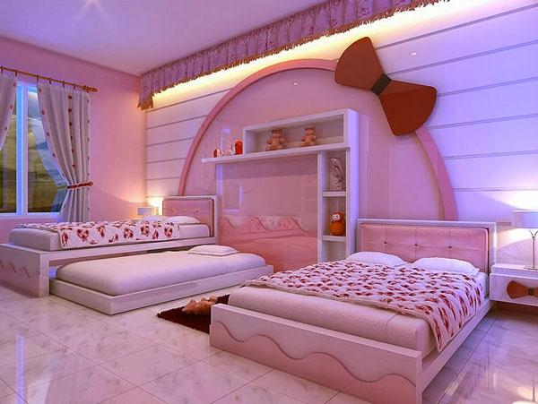 mädchenzimmer lila beleuchtung