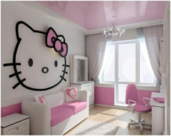 mädchenzimmer sofa weißer schrank deko