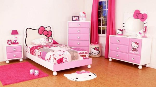 mädchenzimmer total rosa gestalten