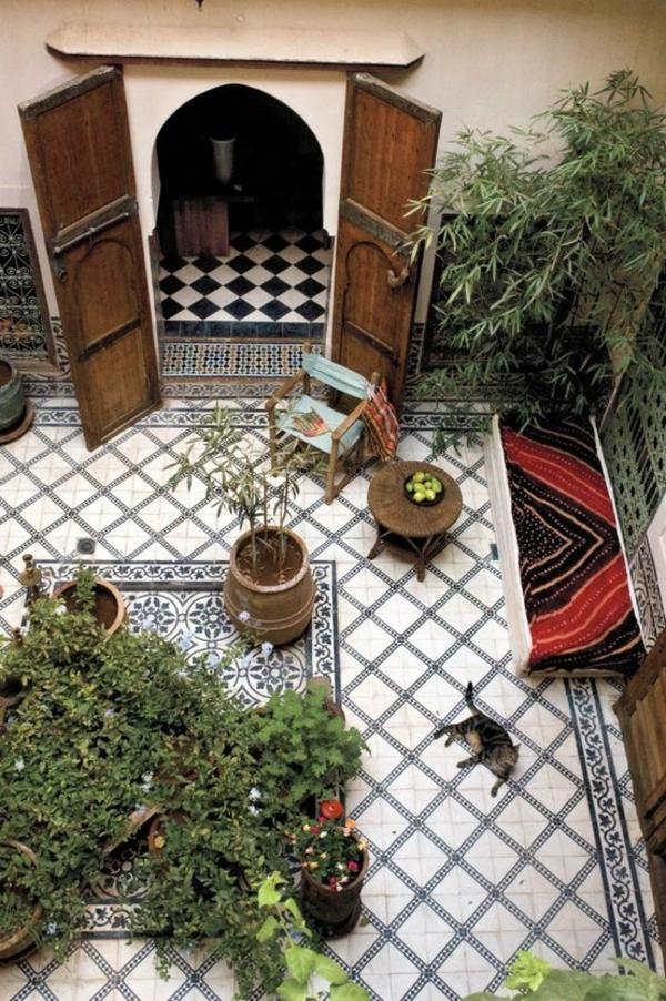 marokkaner garten gestaltungsideen gartenmöbel