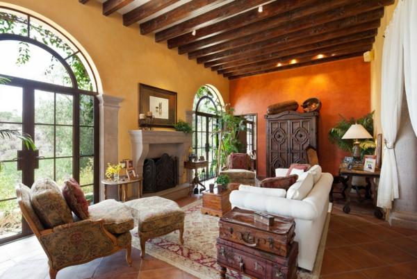 farbgestaltung und wandfarben ideen - umgang mit gelb und orange - Orange Wand Wohnzimmer