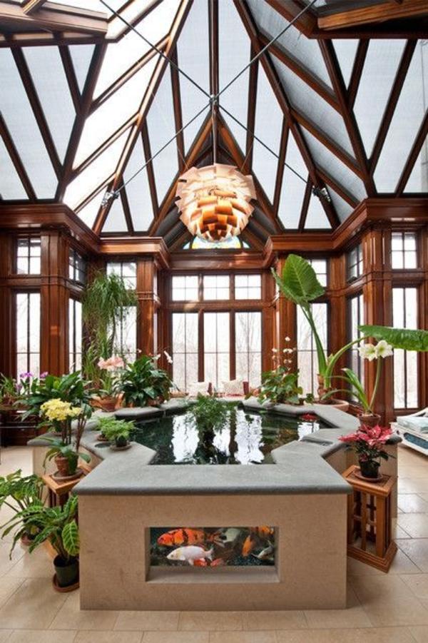 minigarten gestalten interior designideen teich aquarium