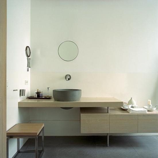 minimalistisch gestapelt waschschrank saubere linien