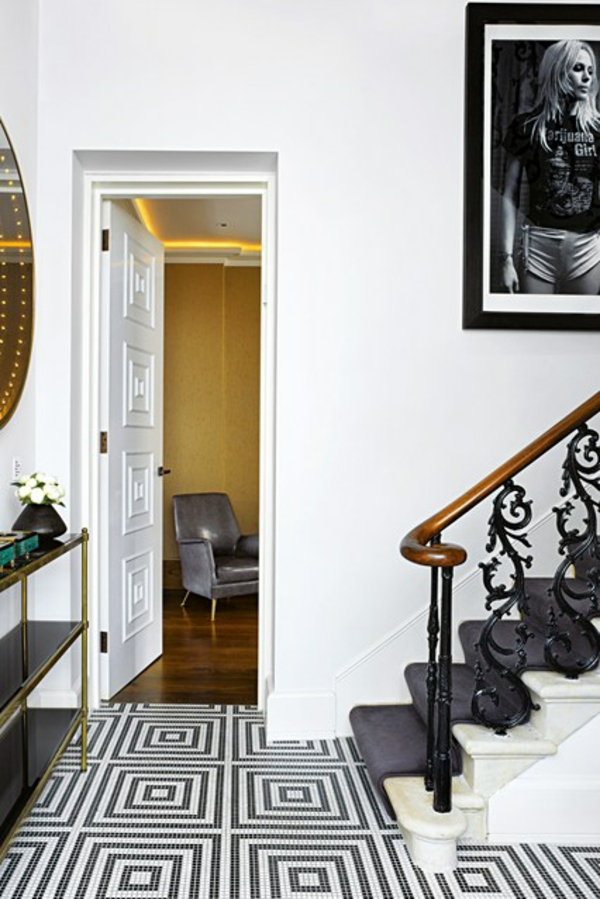 übergangsstil Treppe Flur Modern Vintage