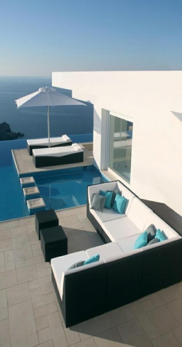 moderne architektur haus landschaft ozean