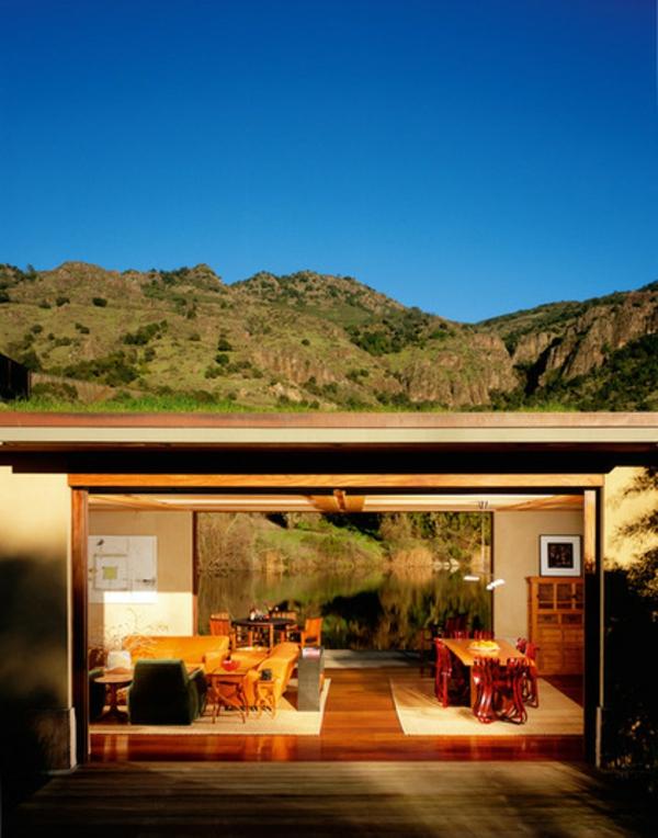 Moderne Architektur Offenes Haus Glaswände Resized