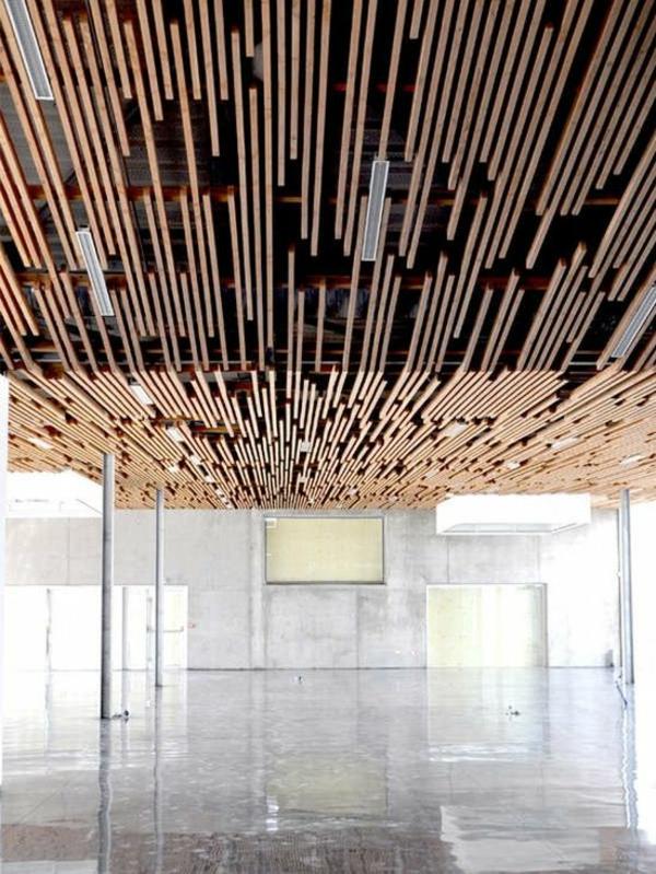 Concrete Baffle Wall Design : Deckenverkleidung verwandelt das zimmer in ein kunstwerk
