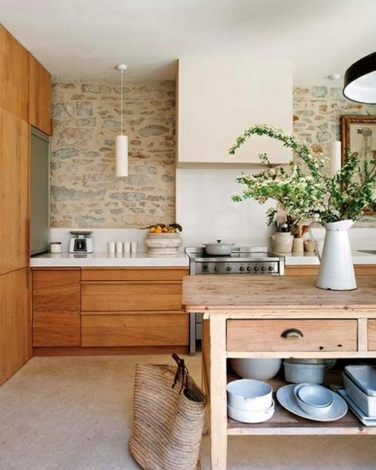 50 moderne landhausküchen - küchenplanung und rustikale küchenmöbel - Kche Ideen Wandgestaltung