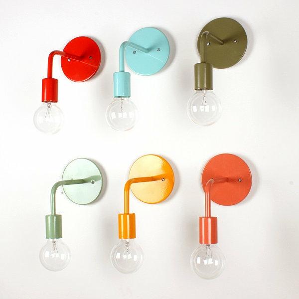moderne lampen und leuchten farbreiche wandleuchter