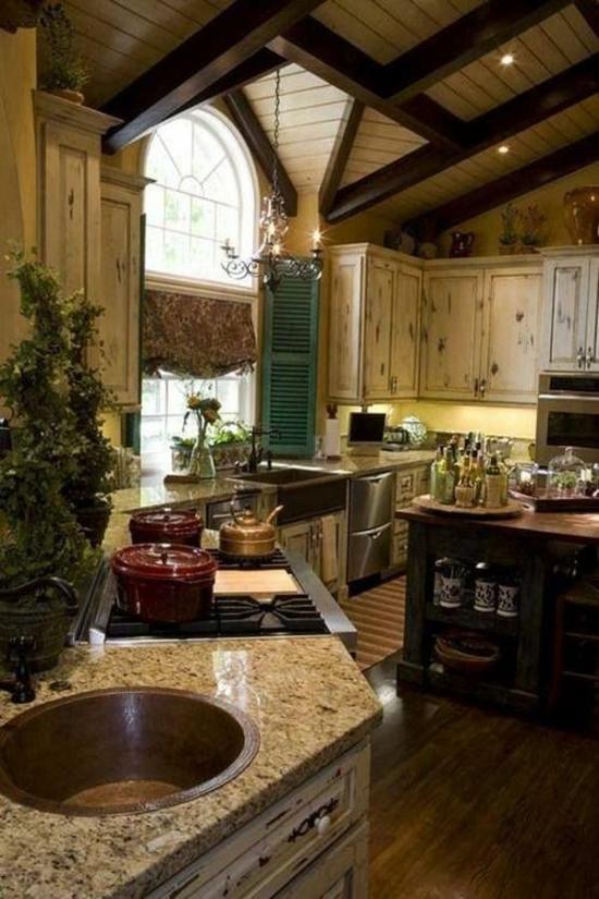 50 moderne Landhausküchen - Küchenplanung und rustikale Küchenmöbel   {Landhausküchen holz modern 26}