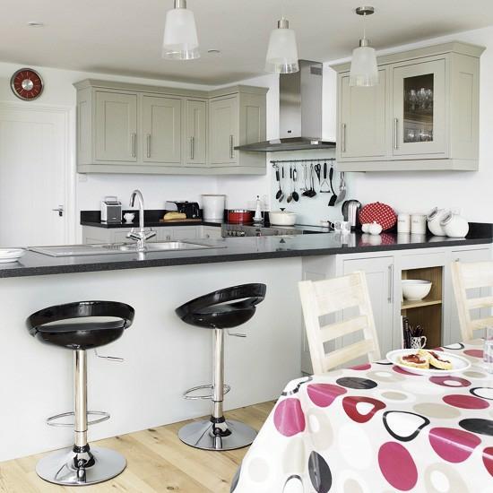 50 moderne landhausk chen k chenplanung und rustikale for Kitchen diner decorating ideas