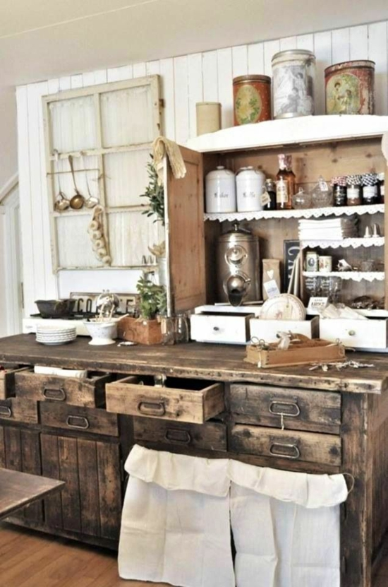 Moderne landhausküchen  50 moderne Landhausküchen - Küchenplanung und rustikale Küchenmöbel