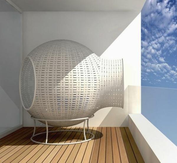 moderne terrasse gestalten terrassenmöbel korb innovative designideen