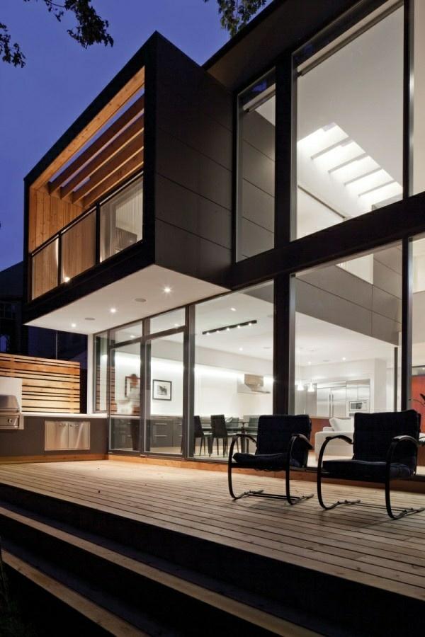 moderne terrasse schöne beleuchtung