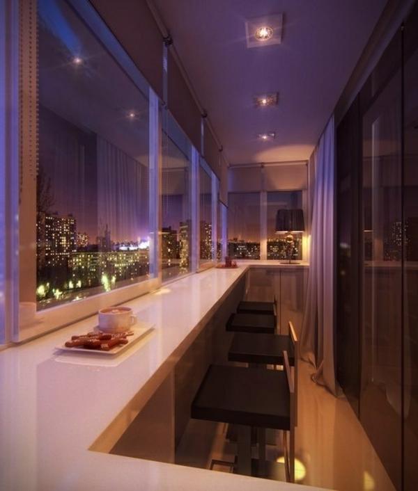 moderne terrassengestaltung beleuchtung barhocker