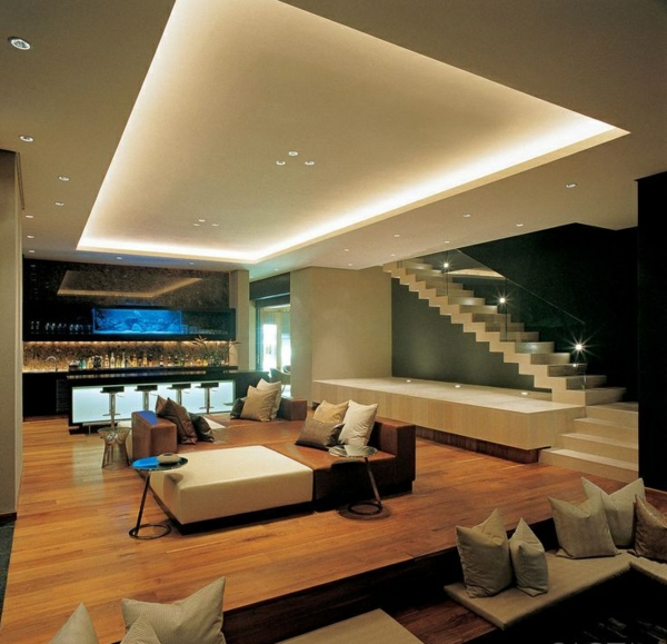 glas bar für wohnzimmer:Indirect Ceiling Lighting Design