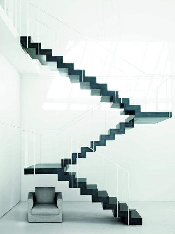 101 moderne treppen erscheinen als blickfang in ihrer wohnung - Weisse Wohnung Futuristisch Innendesign