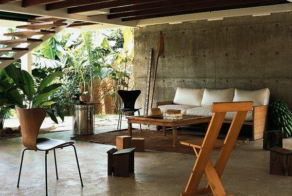 moderne tropische terrasse gestalten terrassenmöbel