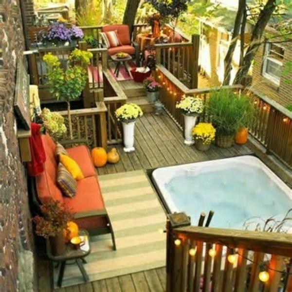 moderner balkon möbel blumen dekoideen wohnideen