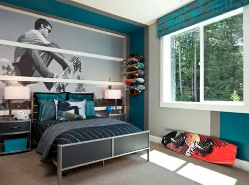 Kinderzimmer ideen wandgestaltung jungs  Farbgestaltung fürs Jugendzimmer - 100 Deko- und Einrichtungsideen
