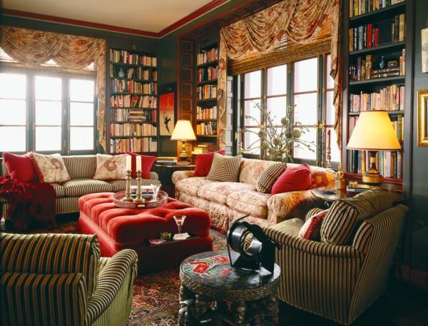 muster farben polstermöbel und wohnlandschaft gardinen klassisch