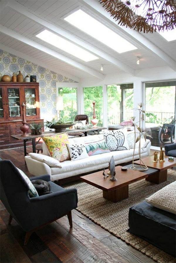 natürliches licht wohnzimmer wandfarben dachfenster wandfarben wohnzimmer