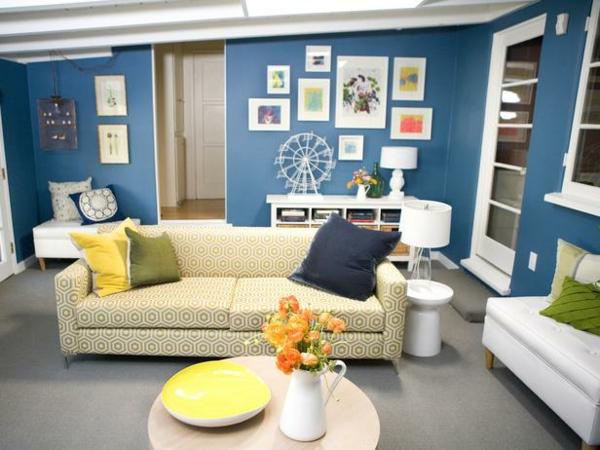▷ 1001+ wandfarben ideen für eine dramatische wohnzimmer-gestaltung, Wohnzimmer dekoo
