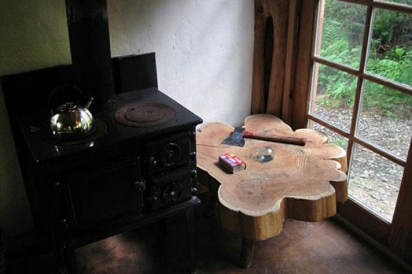 nebentisch ofen rustikal japanisch stil einrichtung raum