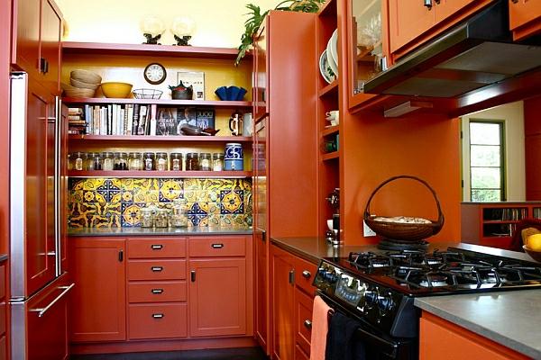 orange holz möbel haushalt möbel küchenschränke platten herd