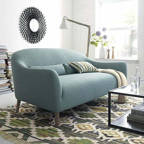 Moderne Sofa pennie sofa crate and barrel pennie sofa cornflower