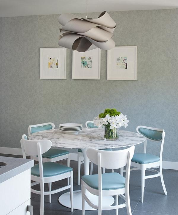 pendelleuchte einrichtungsideen dekoideen tisch stühle