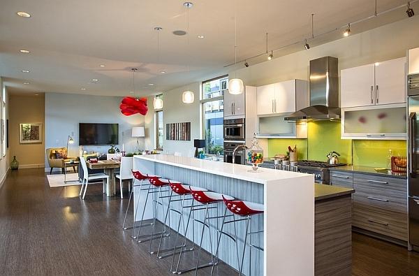 pendelleuchte esszimmer kücheninsel wohideen dekoideen barhocker