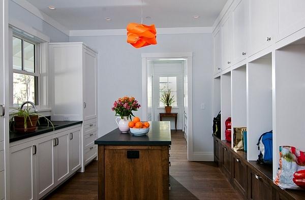 pendelleuchte küche kücheninsel dekoideen schrank